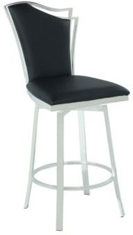 Nadia Swivel Counter Stool with Design Back