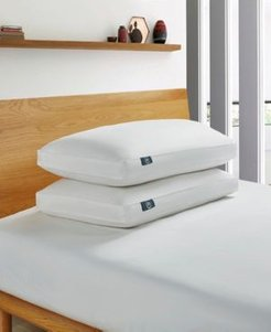 White Goose Feather And Down Fiber Bed Pillow-Side Sleeper - 2 Pack, King