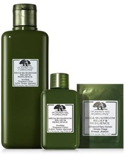 Dr. Andrew Weil For Origins Mega Mushroom Relief & Resilience Soothing Treatment Lotion Home and Away Set + Bonus Serum (A $67 Value!)