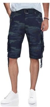 Belted Zipper Detail Cargo Short