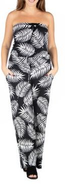 Plus Size Palm Print Jumpsuit