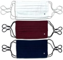 Adult Unisex Pleated Face Mask Solid 6-Pack
