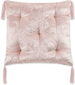 """Closeout! Whim by Martha Stewart Collection Tufted Crushed Velvet 24"""" Square Pillow, Created for Macy's Bedding"""