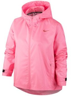 Plus Size Hooded Running Jacket