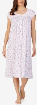 Cotton Floral-Print Long Nightgown