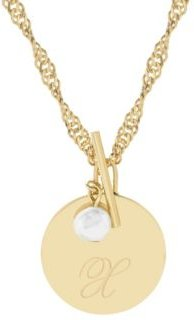 14K Gold Plated Sophie Initial Toggle Necklace