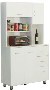 Vintiquewise Kitchen Pantry Storage Cabinet with Doors and Shelves
