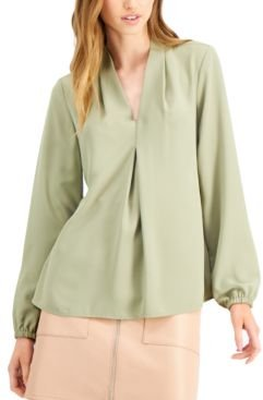 Inverted-Pleat Blouse, Created for Macy's