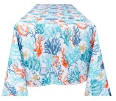 Coralee Indoor Outdoor 100% Polyester Tablecloth