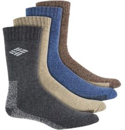 4-Pack Solid-Colored Moisture-Control Boot Socks