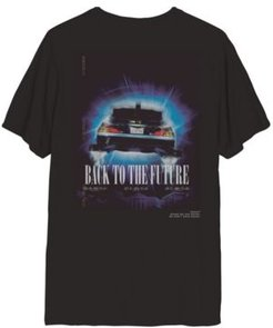 Delorean Back to The Future Men's Graphic Short Sleeve Tee