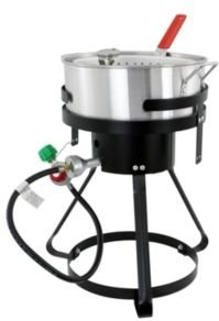 Chard FFPA105 10.5-Qt Fish Wing Fryer with Strainer Basket