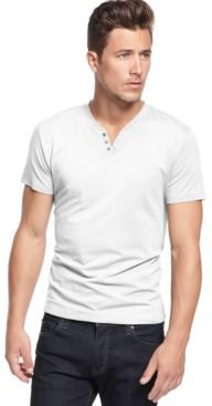 Stretch Solid, Henley T-Shirt, Created for Macy's