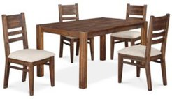 """Avondale 5-Pc. Dining Room Set, Created for Macy's, (60"""" Dining Table & 4 Side Chairs)"""
