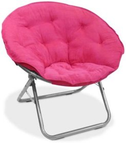 Arron Microsuede Saucer Chair