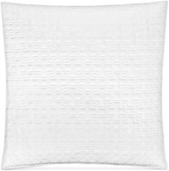 Embroidered Frame Quilted European Sham, Created for Macy's Bedding