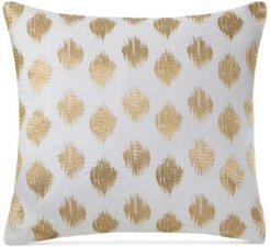 """Nadia Embroidered Dot 18"""" Square Decorative Pillow Bedding"""