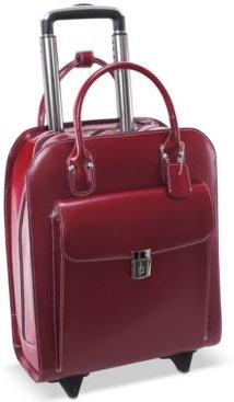 Uptown Leather Wheeled Laptop Briefcase