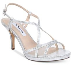 Blossom Strappy Embellished Evening Sandals Women's Shoes