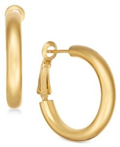 Small Polished Gold Plated Small Hoop Earrings s