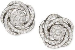Wrapped in Love, 14k White Gold Diamond Pave Knot Earrings (1 ct. t.w.), Created for Macy's