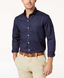 Micro Dot Print Stretch Cotton Shirt, Created for Macy's