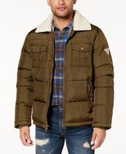 Quilted Jacket with Fleece Collar