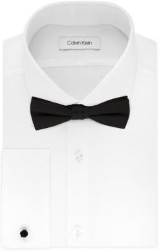 X Men's Extra-Slim Fit Formal White French Cuff Dress Shirt & Pre-Tied Bow Tie