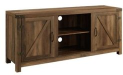 "58"" Farmhouse Tv Stand with Barn Door Side Doors"