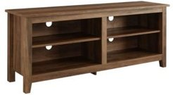 """58"""" Wood Tv Media Stand Storage Console"""