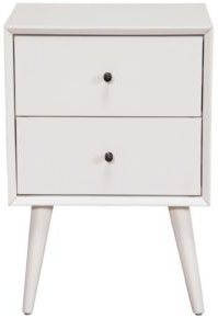 Two-Drawer Accent Table, White Finish