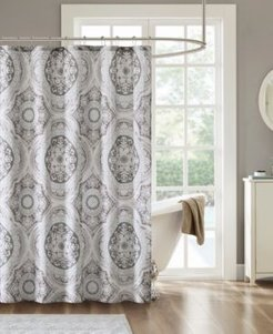 """June 72"""" x 72"""" Cotton Printed Shower Curtain Bedding"""