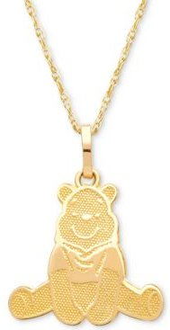 """Children's Winnie the Pooh 15"""" Pendant Necklace in 14k Gold"""
