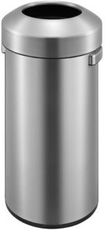 Urban Commercial 60L Round Open Top Trash Can