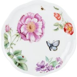 Set of 4 Assorted Butterfly Meadow Bloom Dessert Plates