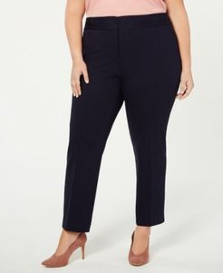 Plus Size High-Rise Ankle Pants