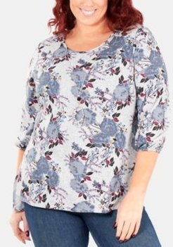 Plus Size Printed Necklace Top