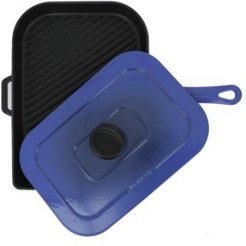 """French Enameled Cast Iron 10"""" Panini Press / Grill"""
