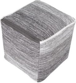 Hand Loomed Cube Pouf