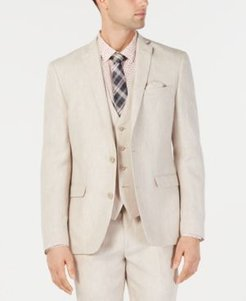 Slim-Fit Linen Tan Suit Jacket, Created for Macy's