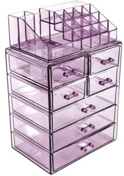 Cosmetics Makeup Storage Case Medium Display Sets - 3 Large 4 Small Drawers + Top