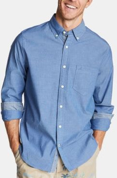 Classic-Fit Stretch Button-Down Shirt