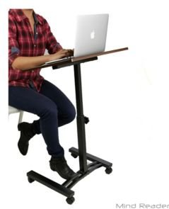Adjustable Standing and Sitting Laptop Cart