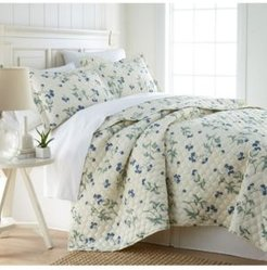 Forget Me Not Quilt and Sham Set, Full/Queen Bedding