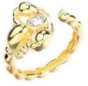 Gold Plated Scorpion Ring