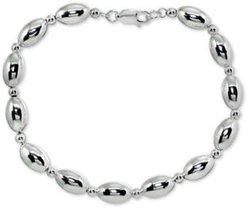 Polished Oval Bead Link Bracelet in Sterling Silver, Created for Macy's