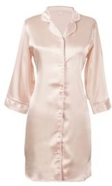 Personalized Monogram Blush Satin Nightshirt, Online Only