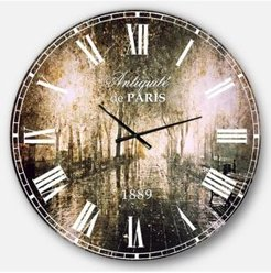 Photography Landscape Oversized Round Metal Wall Clock