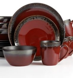 Gourmet Basics by Mikasa Calder Red 16-Pc. Set, Service for 4