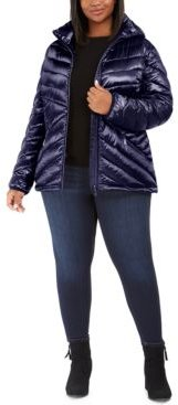 Plus Size Hooded Packable Puffer Coat, Created for Macy's